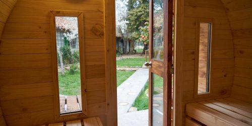 sauna interior -